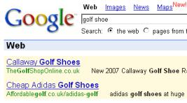 golf shoe image