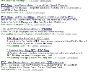 ppc blog serps