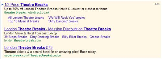 Spaces in Adwords Ads